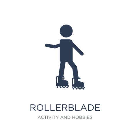 Trendy flat vector Rollerskate icon on white background from Activity and Hobbies collection, vector illustration can be use for web and mobile, eps10