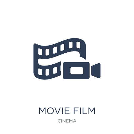 Movie Film icon. Trendy flat vector Movie Film icon on white background from Cinema collection, vector illustration can be use for web and mobile, eps10