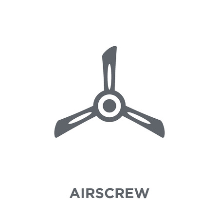 Airscrew icon. Airscrew design concept from Astronomy collection. Simple element vector illustration on white background.