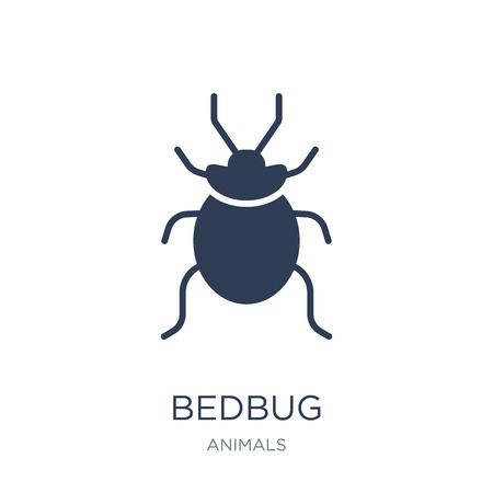 Bedbug icon. Trendy flat vector Bedbug icon on white background from animals collection, vector illustration can be use for web and mobile, eps10 Illustration
