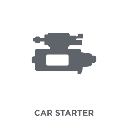 car starter icon. car starter design concept from Car parts collection. Simple element vector illustration on white background.