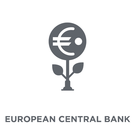 European Central Bank icon. European Central Bank design concept from European Central Bank collection. Simple element vector illustration on white background.