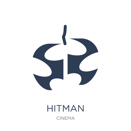 hitman icon. Trendy flat vector hitman icon on white background from Cinema collection, vector illustration can be use for web and mobile, eps10