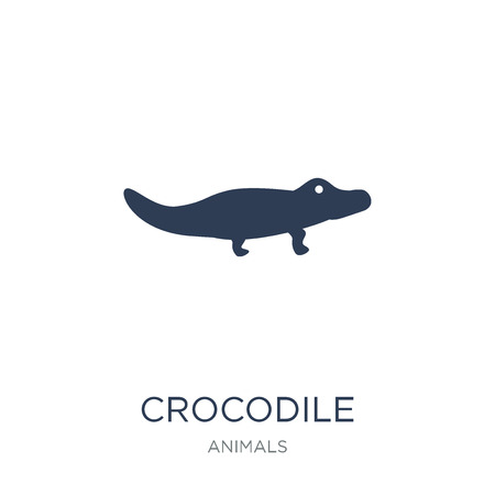 Crocodile icon. Trendy flat vector Crocodile icon on white background from animals collection, vector illustration can be use for web and mobile, eps10