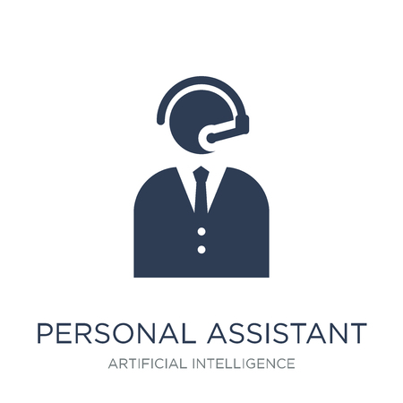 Personal assistant icon. Trendy flat vector Personal assistant icon on white background from Artificial Intelligence, Future Technology collection, vector illustration can be use for web and mobile, eps10 Vetores