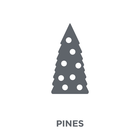 Pines icon. Pines design concept from Christmas collection. Simple element vector illustration on white background.