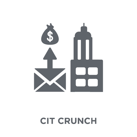 Credit crunch icon. Credit crunch design concept from Credit crunch collection. Simple element vector illustration on white background.  イラスト・ベクター素材