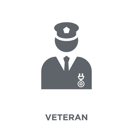 Veteran icon. Veteran design concept from Army collection. Simple element vector illustration on white background.