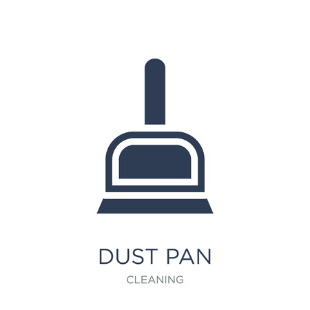 Dust pan icon. Trendy flat vector Dust pan icon on white background from Cleaning collection, vector illustration can be use for web and mobile, eps10