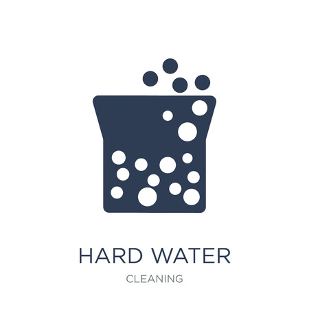 Hard Water icon. Trendy flat vector Hard Water icon on white background from Cleaning collection, vector illustration can be use for web and mobile, eps10