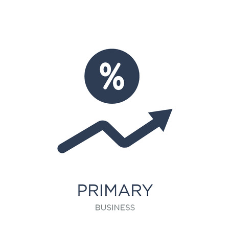Primary discount rate icon. Trendy flat vector Primary discount rate icon on white background from business collection, vector illustration can be use for web and mobile, eps10