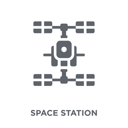 Space station icon. Simple element vector illustration on white background.