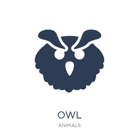Owl icon. Trendy flat vector Owl icon on white background from animals collection, vector illustration can be use for web and mobile, eps10