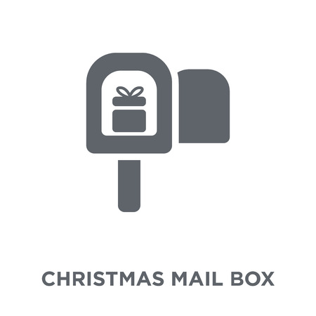 christmas mail box icon. christmas mail box design concept from Christmas collection. Simple element vector illustration on white background. Banco de Imagens - 111919153