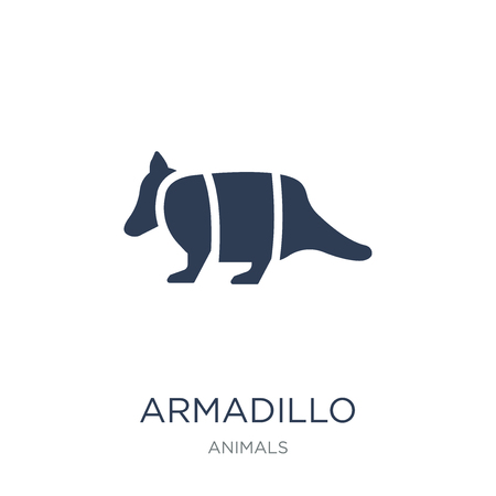 Armadillo icon. Trendy flat vector Armadillo icon on white background from animals collection, vector illustration can be use for web and mobile, eps10
