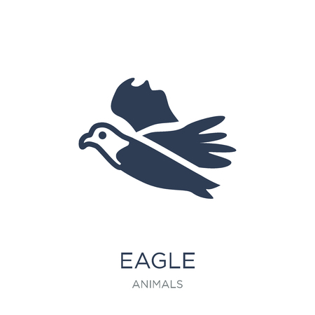 Eagle icon. Trendy flat vector Eagle icon on white background from animals collection, vector illustration can be use for web and mobile, eps10 Stock Vector - 111974528