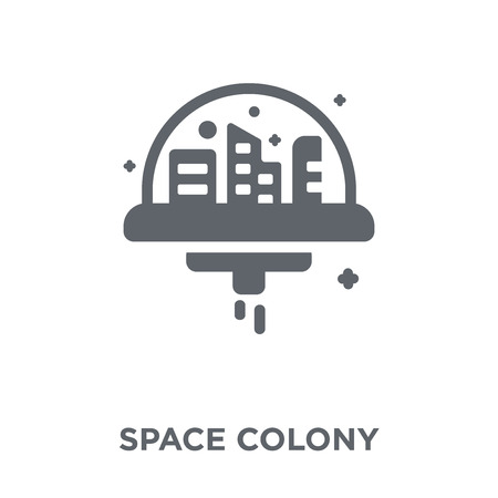 Space colony icon. Space colony design concept f collection. Simple element vector illustration on white background.