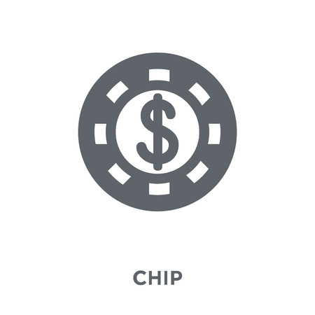 Blue chip icon. Blue chip design concept from Blue chip collection. Simple element vector illustration on white background.