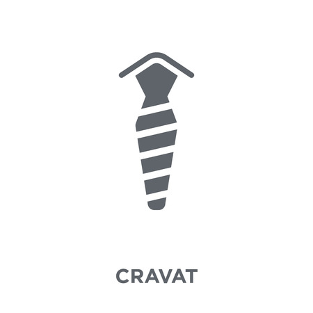 Cravat icon. Cravat design concept from Cravat collection. Simple element vector illustration on white background.