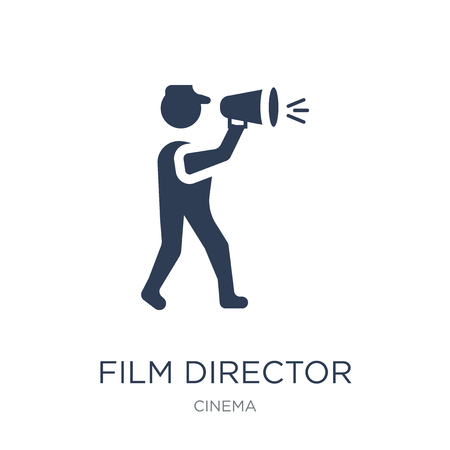 Film director icon. Trendy flat vector Film director icon on white background from Cinema collection, vector illustration can be use for web and mobile, eps10