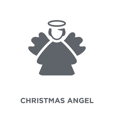 Christmas angel icon. Christmas angel design concept from Christmas collection. Simple element vector illustration on white background. Standard-Bild - 111974532