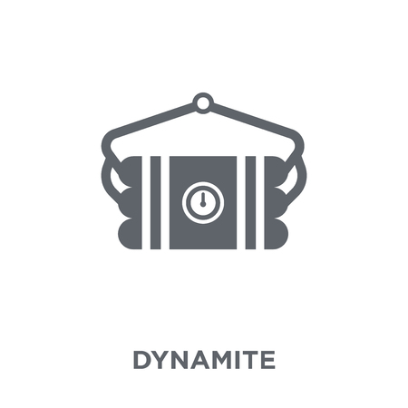 Dynamite icon. Dynamite design concept from Army collection. Simple element vector illustration on white background. Ilustrace