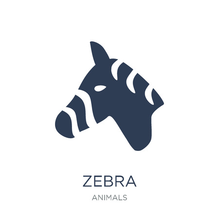 Zebra icon. Trendy flat vector Zebra icon on white background from animals collection, vector illustration can be use for web and mobile, eps10 Illustration