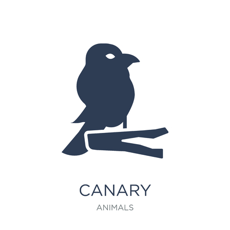 Canary icon. Trendy flat vector Canary icon on white background from animals collection, vector illustration can be use for web and mobile, eps10  イラスト・ベクター素材