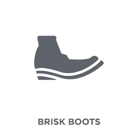 brisk boots icon. brisk boots design concept from Brisk boots collection. Simple element vector illustration on white background. Ilustração