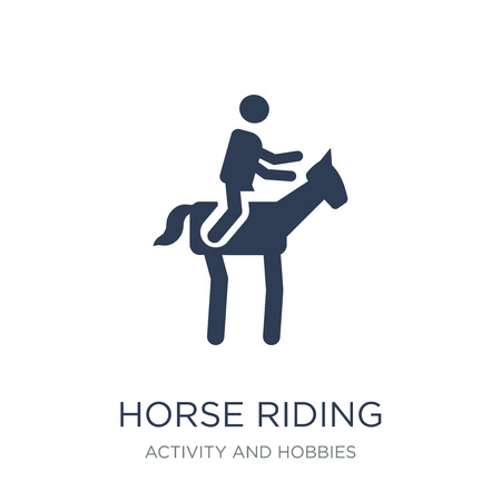 Horse riding icon. Trendy flat vector Horse riding icon on white background from Activity and Hobbies collection, vector illustration can be use for web and mobile, eps10