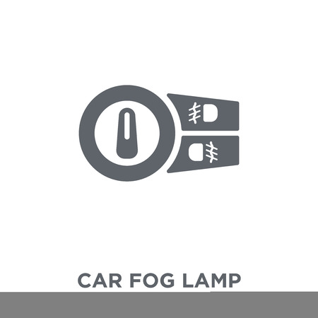 car fog lamp icon. car fog lamp design concept from Car parts collection. Simple element vector illustration on white background.