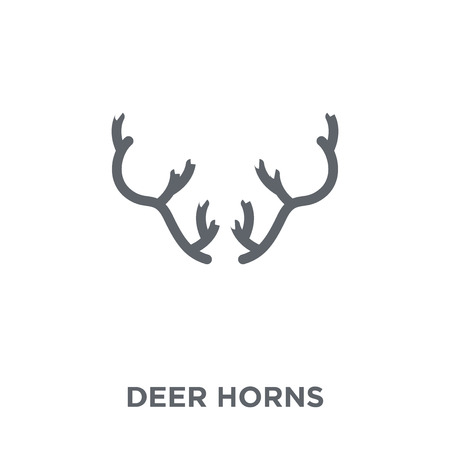 Deer horns icon. Deer horns design concept from Christmas collection. Simple element vector illustration on white background.
