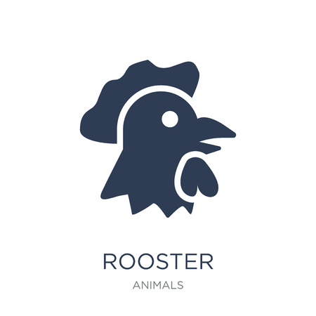 Rooster icon. Trendy flat vector Rooster icon on white background from animals collection, vector illustration can be use for web and mobile