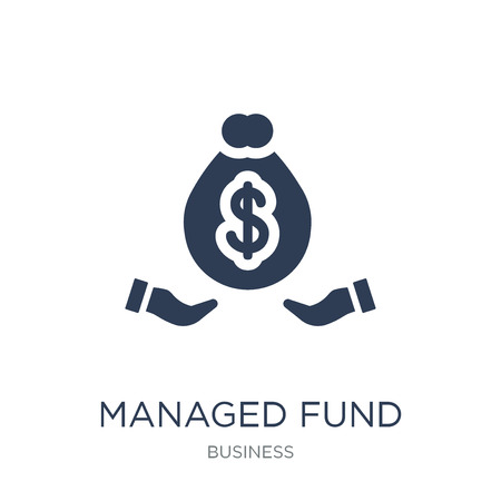 Managed fund icon. Trendy flat vector Managed fund icon on white background from Business collection, vector illustration can be use for web and mobile, eps10 Illustration