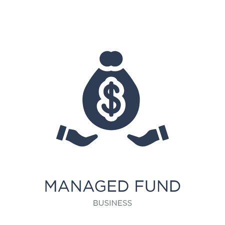 Symbol für verwalteten Fonds. Trendy Flat Vector Managed Fund Icon auf weißem Hintergrund aus der Business-Kollektion, Vektorillustration kann für Web und Mobile verwendet werden, eps10 Vektorgrafik