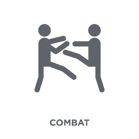 icono de combate. concepto de diseño de combate de la colección Army. Ilustración de vector de elemento simple sobre fondo blanco.