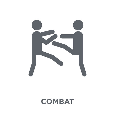 combat icon. combat design concept from Army collection. Simple element vector illustration on white background. Illustration