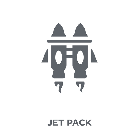 Jet pack icon. Jet pack design concept from collection. Simple element vector illustration on white background. Stock Illustratie