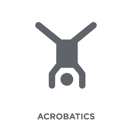 Akrobatik-Symbol. Akrobatik-Designkonzept aus der Circus-Kollektion. Einfache Elementvektorillustration auf weißem Hintergrund.