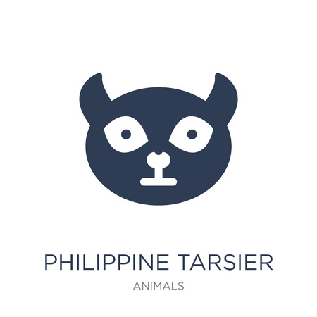 Philippine tarsier icon. Trendy flat vector Philippine tarsier icon on white background from animals collection, vector illustration can be use for web and mobile, eps10