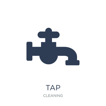 Tap icon. Trendy flat vector Tap icon on white background from Cleaning collection, vector illustration can be use for web and mobile, eps10