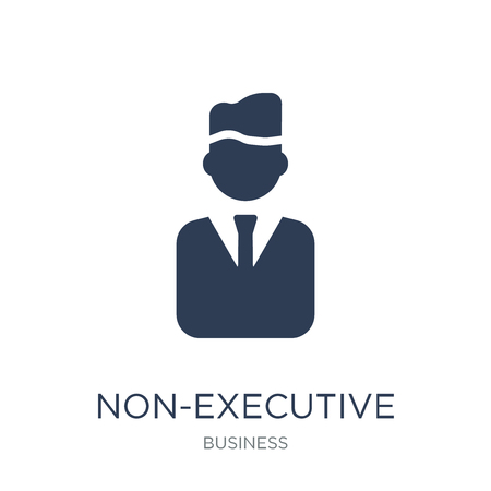 Non-executive director icon. Trendy flat vector Non-executive director icon on white background from Business collection, vector illustration can be use for web and mobile, eps10