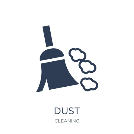 Dust icon. Trendy flat vector Dust icon on white background from Cleaning collection, vector illustration can be use for web and mobile, eps10