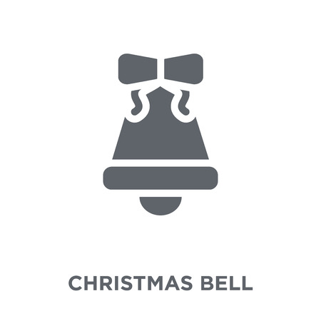 Christmas bell icon. Christmas bell design concept from Christmas collection. Simple element vector illustration on white background. Stock Vector - 111999319
