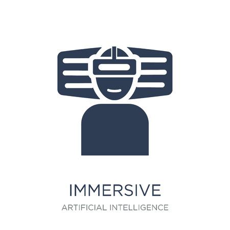 Icône immersive. Icône immersive vecteur plat sur fond blanc de l'intelligence artificielle, collection Future Technology, illustration vectorielle peut être utilisé pour le web et mobile, eps10