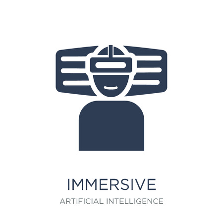 Immersive icon. Trendy flat vector Immersive icon on white background from Artificial Intelligence, Future Technology collection, vector illustration can be use for web and mobile, eps10 Foto de archivo - 111999322