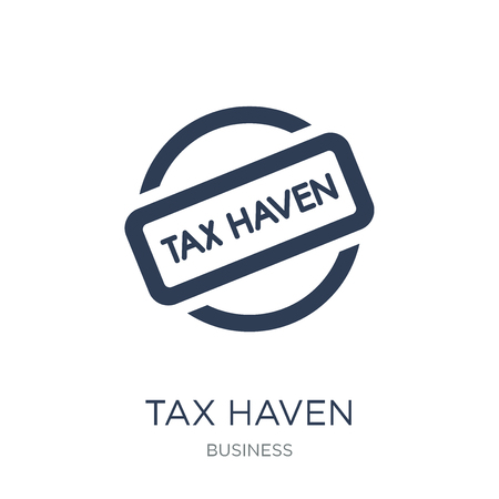 Tax haven icon. Trendy flat vector Tax haven icon on white background from business collection, vector illustration can be use for web and mobile, eps10 Banque d'images - 111974561