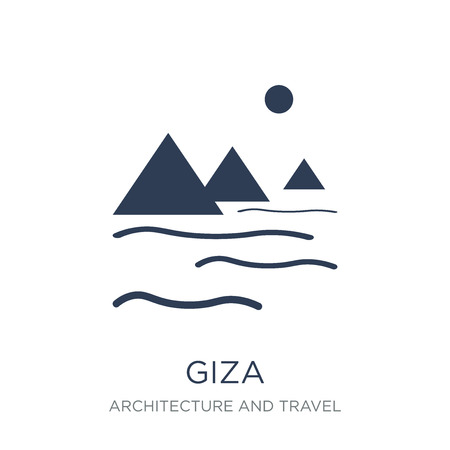 Giza icon. Trendy flat vector Giza icon on white background from Architecture and Travel collection, vector illustration can be use for web and mobile, eps10