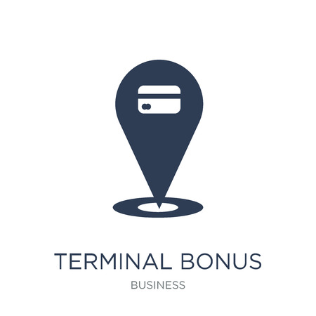 Terminal bonus icon. Trendy flat vector Terminal bonus icon on white background from business collection, vector illustration can be use for web and mobile, eps10