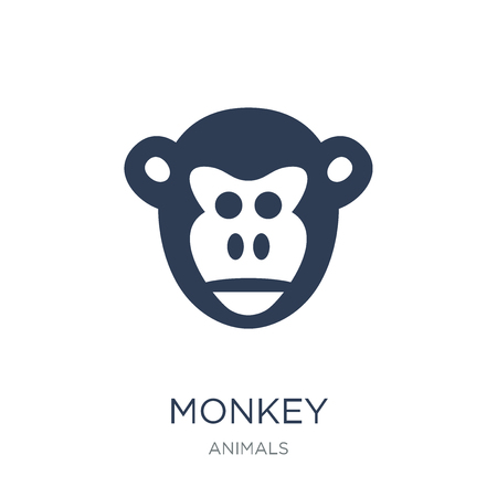 Monkey icon. Trendy flat vector Monkey icon on white background from animals collection, vector illustration can be use for web and mobile, eps10
